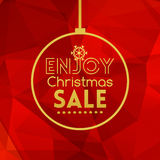 Christmas sale ball card abstract red background Royalty Free Stock Photos