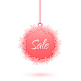 Christmas sale ball with snowflakes Royalty Free Stock Photography