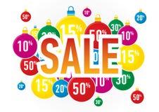 Christmas Sale balls Royalty Free Stock Image