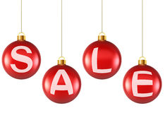 Christmas sale balls. Royalty Free Stock Photo