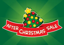 After Christmas Sale banner Stock Images