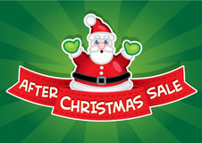 After Christmas Sale banner Royalty Free Stock Photography