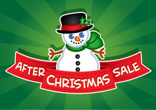 After Christmas Sale banner Royalty Free Stock Images