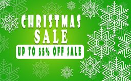 Christmas sale banner for booklet 40%, holiday flyer, poster, advertising logo, leaflet for the store template design. The modern. Image for social media. New Royalty Free Stock Photos