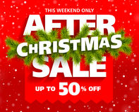 After Christmas Sale banner. Illustration Royalty Free Stock Images