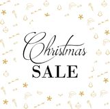 Christmas Sale Banner, Holiday Concept Background. Royalty Free Stock Image