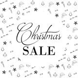 Christmas Sale Banner, Holiday Concept Background. Royalty Free Stock Photo