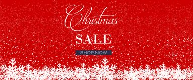 Christmas Sale Banner, Holiday Concept Background. Royalty Free Stock Photos