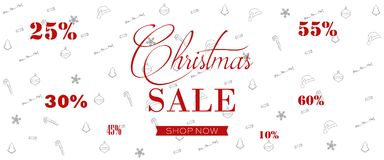 Christmas Sale Banner, Holiday Concept Background. Stock Photography