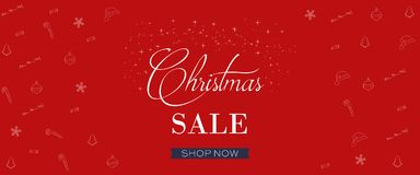 Christmas Sale Banner, Holiday Concept Background. Stock Images
