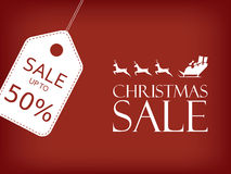 Christmas sale banner. Holiday sales vector Royalty Free Stock Photo