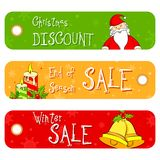 Christmas Sale Banner Stock Image
