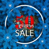 Christmas Sale banner. New year 2019 and Christmas design. royalty free illustration