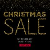 Christmas sale banner poster template. Royalty Free Stock Images