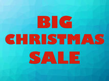 Christmas sale banner red letters on blue background. Big Christmas sale banner with red letters on blue background Stock Image