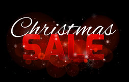 Christmas sale banner with sparkles and snowflakes Royalty Free Stock Photography