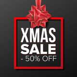 Christmas Sale Banner Vector. December Holidays Xmas Sale Poster. Marketing Advertising Design Illustration. Template. Christmas Sale Banner Vector. Business Royalty Free Stock Images
