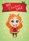Christmas sale banner Royalty Free Stock Photo