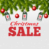 Christmas Sale banner. Vector illustration Royalty Free Stock Images