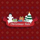 Christmas sale banner. Vector picture Royalty Free Stock Photo