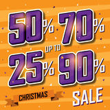 Christmas sale banner. Vector sales discount Stock Image