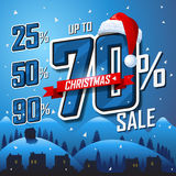 Christmas sale banner. Vector sales discount Stock Photo