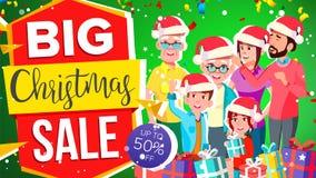 Christmas Sale Banner Vector. Super Sale Flyer. Discount Up To 50 Off. Super Flyer. Illustration. Christmas Sale Banner Vector. Discount Up To 50 Off. Special Royalty Free Illustration
