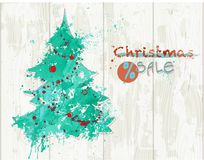 Christmas sale banner royalty free stock photography