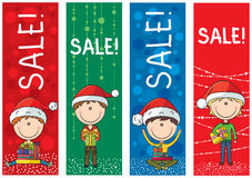 Christmas sale banners Stock Images
