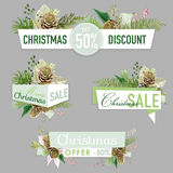 Christmas Sale Banners, Labels and Tags Royalty Free Stock Photography