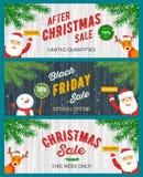 Christmas sale banners set stock illustration