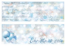 Christmas sale banners Royalty Free Stock Photos