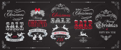 Christmas sale banners royalty free illustration
