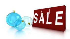 Christmas sale with baubles and bag Stock Photos