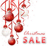 Christmas sale with baubles Royalty Free Stock Photography