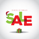 Christmas sale big bright overlapping design Stock Photography