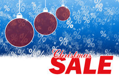 Christmas sale blue background Stock Photo