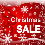 Christmas Sale on the bright red Background. Stock Images