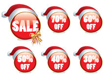 Christmas sale buttons Stock Photography