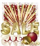 Christmas sale card Stock Image