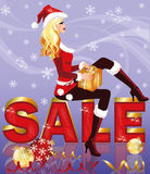 Christmas sale card Royalty Free Stock Photos