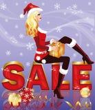Christmas sale card Royalty Free Stock Photos