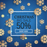 Christmas sale card. Royalty Free Stock Photo