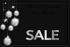 Christmas sale card Royalty Free Stock Photography