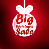 Christmas Sale card. + EPS10 Stock Photography