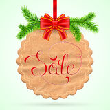 Christmas sale card Royalty Free Stock Photo