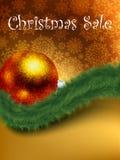 Christmas sale card templates. EPS 8 Royalty Free Stock Photos
