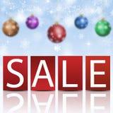 Christmas Sale Card Stock Photo