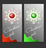 Christmas Sale Cards Royalty Free Stock Image