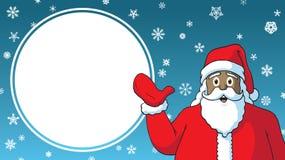 Christmas Sale cartoon Black African-American santa claus design advertising template sign. Christmas Sale cartoon Black African-American santa claus retail stock illustration